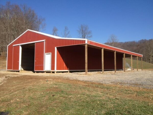 Pole Barn Garage Harrisville WV - Eastern Buildings - 011