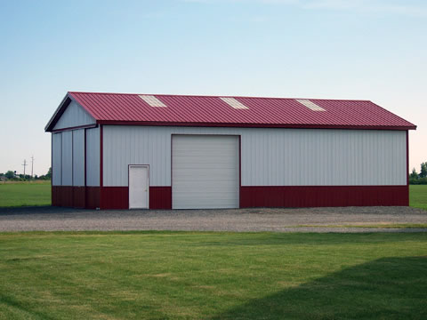 Horse Barn Builders Clarksburg WV - Eastern Buildings - 40_x_64_hay_storage