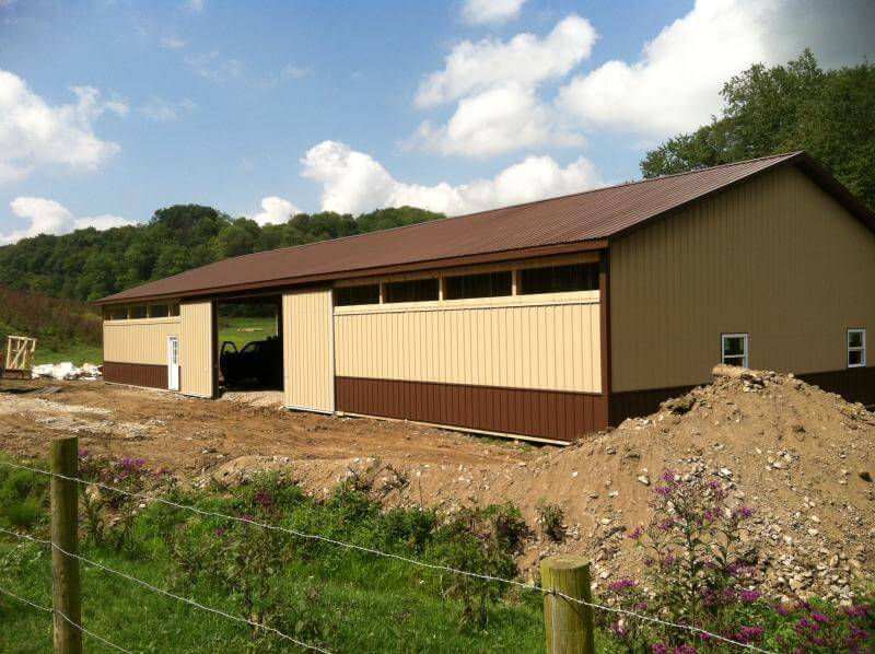 Pole Barn Garage Monongalia County - Eastern Buildings - johniams