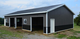 Pole Barn Construction: Custom Garages & Horse Barns Spencer WV & North Carolina - barn